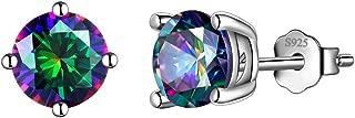 Aurora Tears Mysitc Rainbow Topaz Jewelry Women 925 Sterling Silver Rainbow Topaz Necklace Earring Rings Girls Dating Gift