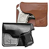 Talon Holster Compatible with Ruger LCP, LCP 2, Kel-Tec P3AT Wallet Right Hand Black Crimson Trace