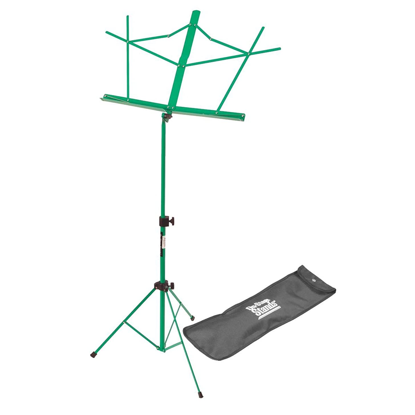 On-Stage SM7122GRB Compact Folding Sheet Music Stand with Bag, Green