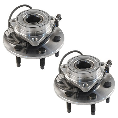 DRIVESTAR 4WD Only 515036 Front Wheel Hubs & Bearing Assembly 6 Lugs 4x4 AWD w/ABS for 2002 03 04 05 06 Chevrolet Silverado/Suburban/Avalanche 1500 Tahoe GMC Sierra Savana Cadillac Escalade(Pair)