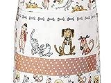 Küchenschürze für Frauen Damen lustiges Hundemotiv Kochschürze Baumwolle mit Taschen zum Kochen, Hund Geschenk für Hundeliebhaber - 7