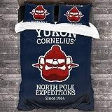 Qoqon Rudolph The Red Nose Reindeer Yukon Cornelius Juego de Cama de 3 Piezas Funda nórdica Juego de Cama Decorativo de 3 Piezas con 2 Fundas de Almohada