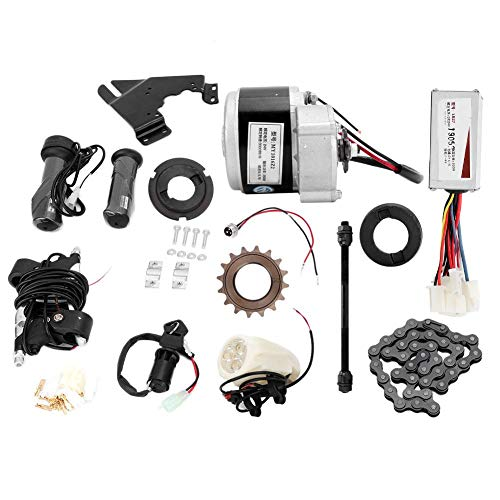 Kit de conversión de bicicleta eléctrica de 24 V 250 W, controlador de motor, soporte de motor, interfaz de carga de cerradura de puerta eléctrica para bicicleta común de 22-28 pulgadas