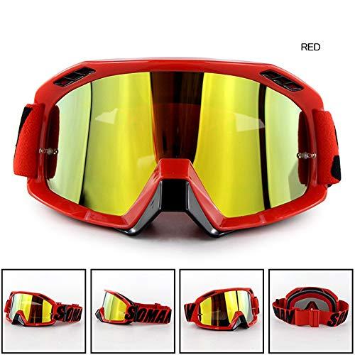 MeterMall Moto voor Motorhelm Outdoor Riding Skibril SM15 Langlaufbril Geel