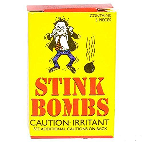 Stink Bombs Glass Vile Vials Novelty (Box of 36)