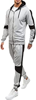 Men's Casual Tracksuit Long Sleeves 2 Piece Full Zip Running Jogging Athletic Sports Set