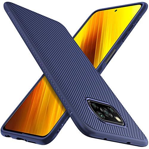 C'iBetter Hülle Kompatibel mit Poco X3 Pro/Xiaomi Poco X3 NFC, Stylisch Handy Handyhülle Schutzhülle Shock Absorption Hülle Kompatibel mit Xiaomi Poco X3 Pro Smartphone. Blau