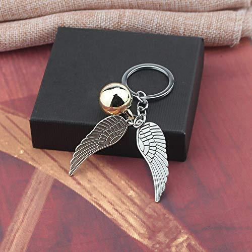MINTUAN Mode hp Keychain für Frauen männer Vintage Style engelsflügel Charme golden Snitch schlüsselanhänger für männer schmuck schlüsselanhänger