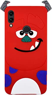 Back Cover Shalaby Rubber Anti Shock, 3D Laser Printing for Honor 8C - Red