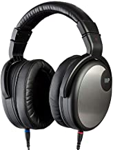 Monoprice HR-5C Wired Headphones - Black/Silver with 42mm Drivers, High Resolution Closed Back, 1.3mm Cable