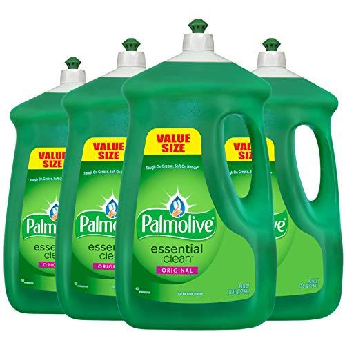 PALMOLIVE Original Dishwashing Liquid, Dish Soap, 90 Fluid Ounces, Dish Detergent, Dish Liquid (Model Number: 14157)(Pack of 4)