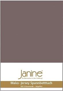 Janine Mako 5007 Drap-housse en jersey de coton mako Cappuccino (47) 140 x 200 cm à 160 x 200 cm