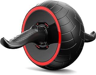 KRATOS 腹筋ローラー アブローラー 超静音 膝保護マット付き ラバーグリップ 品質保証付き