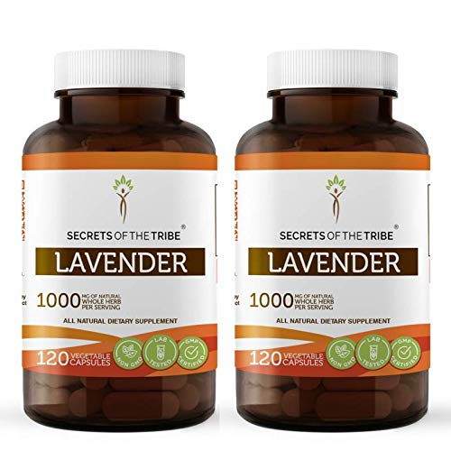 Lavender 120 Capsules(2 pcs.), 1000 mg, Organic Lavender (Lavandin, Lavandula X Intermedia) Dried Flowers (2x120 Capsules)