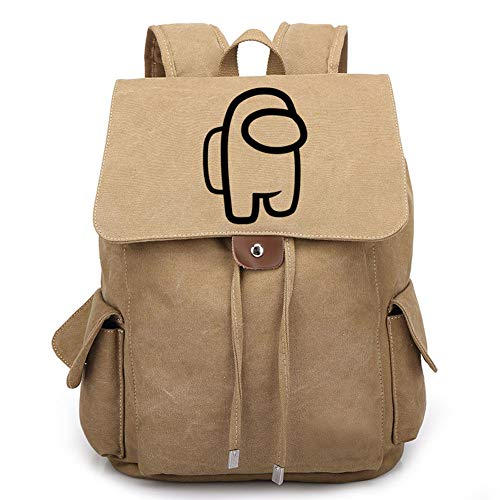 FUFU Among Us Men'S and Women'S Casual Backpacks Laptop Backpack Boys and Girls College and Primary School Students Schoolbags Comfortable Work Travel Waterproof Large-Capacity Gifts/D