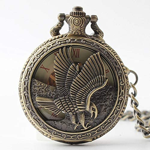 Davitu All stores are sold Beads - Eagle commemorative Popular m Rome clamshell pocket watch
