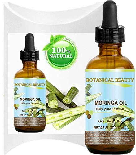 Olio Moringa - 100% puro, naturale, non diluito e pressato a freddo - flacone da 15ml per cura...