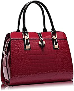 Shoulder Bag for Women - Leather, Red