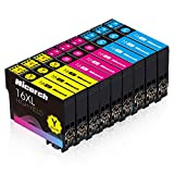 Hicorch 16XL Multipack para Epson 16 Cartuchos de Tinta Compatible con Epson Workforce WF-2010 WF-2510 WF-2520 WF-2530 WF-2540 WF-2630 WF-2650 WF-2660 WF-2750 WF-2760 (3 Cian,3 Magenta,3 Amarillo)
