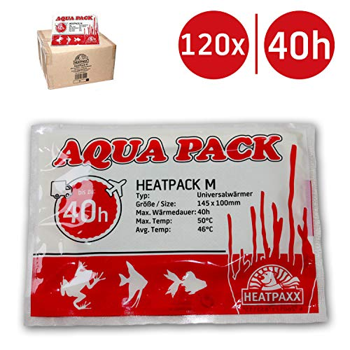 HeatPaxx UNIVER salwärmer | Heat Pack M 40H | Aqua Pack | Calentador de Transporte | Animales Envío | Paquete Tallas: 1–120Pieza | Planta Envío | 10cm x 13cm, 40Horas de Calor útil