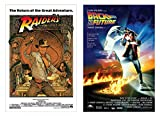 POSTER STOP ONLINE Raiders of the Lost Ark & Back to the Future - 80's Favorites Movie Poster Set (Size 27' x 40')