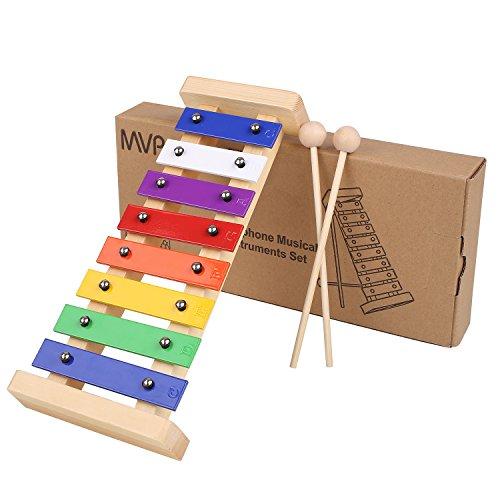 MVPower Xylophon Musikinstrument, Glockenspiel für Kinder, Baby Schlaginstrument