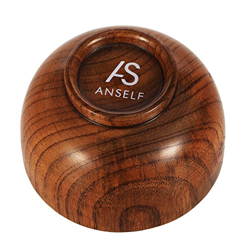 anself–bol de savon de rasage de bois pour hommes, Couleur Marron