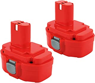 Exmate 2 Pack 18V 3.5Ah Replacement Battery Compatible with Makita 1822 1823 1834 1835 192826-5 192827-3 192829-9 193159-1 193140-2 193102-0 194105-7