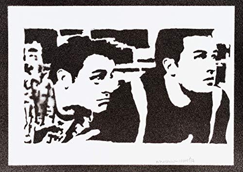 Friends Poster Chandler und Joey Plakat Handmade Graffiti Street Art - Artwork