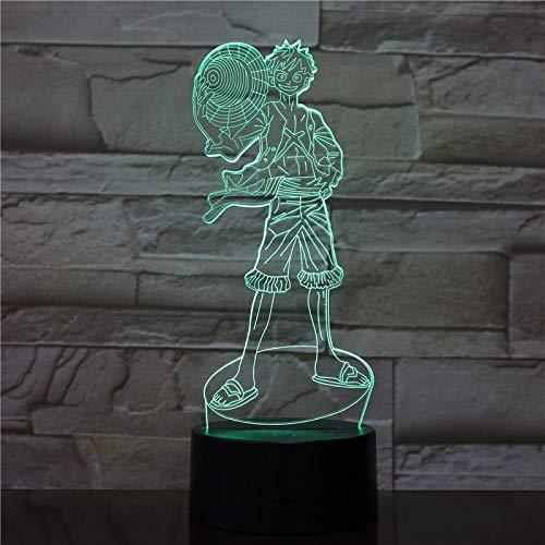 3D Tischlampe Kinder Spielzeug Geschenk-2549 Ruffy 7/16 Farben Chang 3D Tischlampe Kinder Spielzeug Geschenk LED Nachtlicht Schlaf Schlafzimmer Dekoration Mann Jungen Geschenk