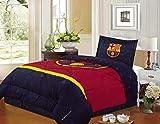 FCBarcelona Twin Size 3pc Comforter Set