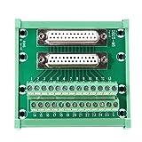 DB25-M6 DIN-Schienenmontage-Schnittstellenmodul Anschlussklemme Doppelbuchse DB25 Breakout Board -