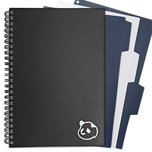 """Undated Black Weekly Planner 2.0 - 1 Year Monthly Calendar and Weekly Organizer Notebook - Spiral Bound Wire Binding 12 Month Weekly Planner 2021 by Panda Planner - 5.75"""" x 8.25"""""""