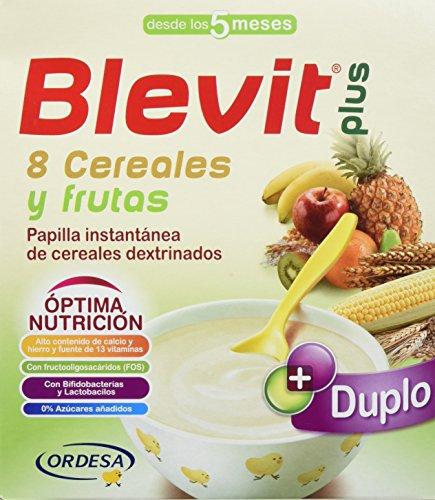 Blevit Plus Duplo 8 Cereales y Frutas, 1 unidad 600 gr. A