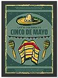 Retro Vintage Mexiko Kunstdruck Poster -ungerahmt- Bild DIN