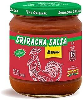Huy Fong Sriracha Salsa | Fresh Chunky Medium | 15 Calories Per Serving | 8 Pack (15.5 ounces Per Jar)