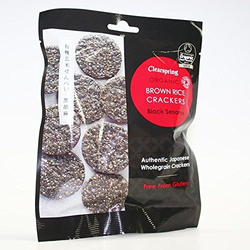 Clearspring   Brown Rice Crackers-Blk Sesame   7 x 40g