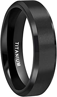 Comfort Fit Center Brushed Finish Luxffield Mens Silver Wedding Bands Size 7.5 to 13 6MM 8MM Tungsten Engagement Promise Rings for Him Flat Ring with Step Edge