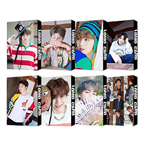 8 Pack / 240 Pcs Pcs BTS Lomo Card KPOP Bangtan Boys Photocards with Greeting Card Postcards Box