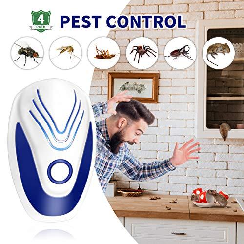 Repellente per ultrasuoni Plug in Controllo interno dei parassiti Ultrasuoni Repellente per topi Repellente per topi e repellente per topi Repellente per parassiti Per pulci Insetti Zanzara Topi
