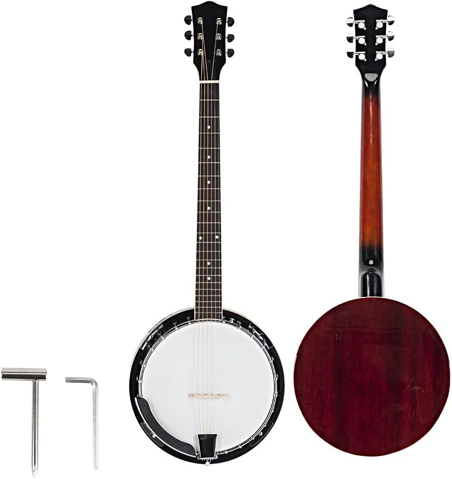 6 String Banjo - Top Grade Sape rofessional 4 years half warranty Wood Exquisite Metal