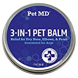 Pet MD Dog Paw Balm - 3-in-1 Paw, Nose/Snout, & Elbow Moisturizer & Paw Protectors for Dogs - 2 oz Paw Wax with Shea Butter, Coconut Oil, & Beeswax