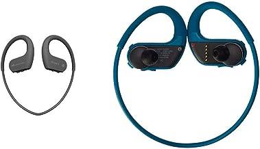 $246 » Sony NWWS623/B Waterproof and Dustproof Walkman with Bluetooth,Black & NWWS413LM 4GB Sports Wearable MP3 Player (Blue)