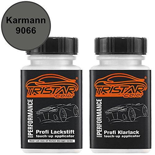 TRISTARcolor Autolack Lackstift Set für Karmann 9066 Anthrazit Metallic Basislack Klarlack je 50ml