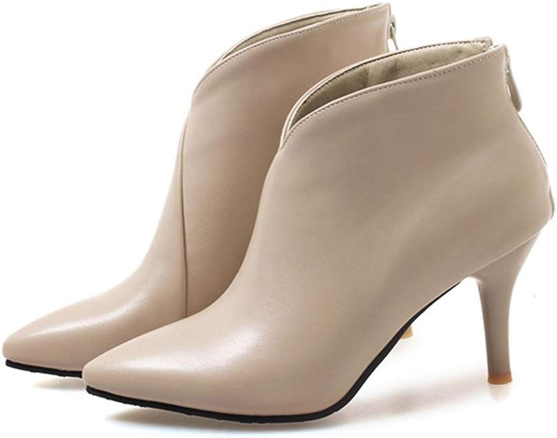 Kyle Walsh Pa kvinnor kvinnor kvinnor hög klack stövlar Mode Zipper Sexy Ankle stövlar Damer skor Thin Heel Plus Storlek skor  upp till 60% rabatt