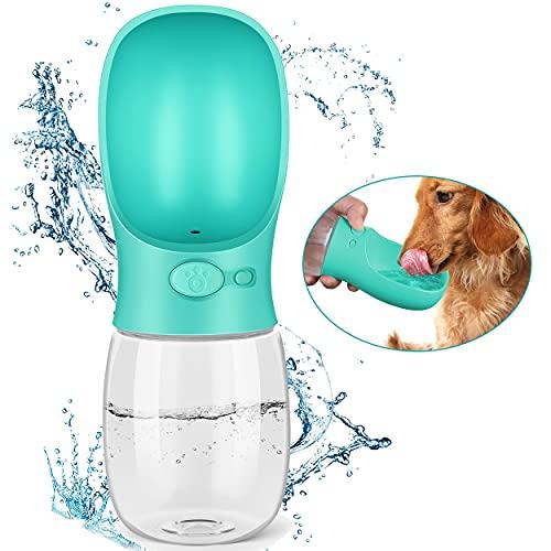 Oguggi Dog Water Bottle Dispenser Dog Water Bowl Dispenser Portable Pet Water Bottle for Travel, BPA Free Water Bottle for Dogs,cat, Rabbit,Puppy and Other Animals(12-18 Oz) (Blue,12OZ)