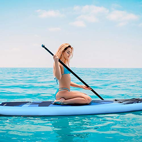 """Product Image 5: Goplus Inflatable Stand Up Paddle Board, 6.5"""" Thick SUP with Premium Accessories and Carry Bag, Wide Stance, Bottom Fin for Paddling, Surf Control, Non-Slip Deck, for Youth and Adult (Blue, 9.8ft)"""