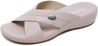 Damesschoenen sandalen vrouwelijk vakantiehuis comfortabele maat lichte stretchschoenen, abricot, 39 36 EU Abricot