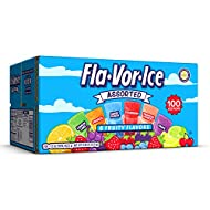 Fla-Vor-Ice Popsicle Variety Pack of 1.5 Oz Freezer Bars, Assorted Flavors, 100 Count