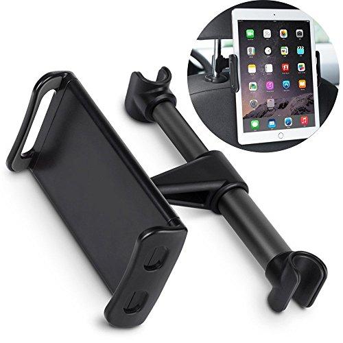 Supporto Smartphone Auto - Supporto Tablet Poggiatesta Auto Sedile Posteriore per iPad   iPhone   cellulare   mini da 4 - 11 pollici Regolabile 360 Gradi Montaggio a pressione, Regolabile 360